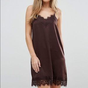 ASOS Vila Cami Slip Dress Lace Detail Size Large